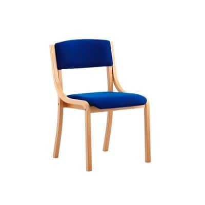 Visitor Chair Madrid Straight Leg Blue Without Arms