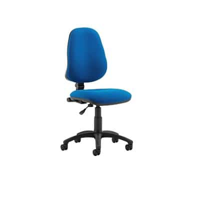 Task Office Chair Eclipse I Lever Blue Fabric Without Arms