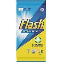 Flash Wet Surface Cleaning Wipes Extra Large Transparent Pack of 24