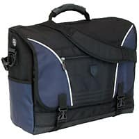 Falcon Laptop Briefcase 17 Inch Polyester Black, Blue 40 x 15 x 29 cm