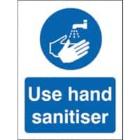 Stewart Superior Health and Safety Sign Use hand sanitiser Plastic 30 x 20 cm