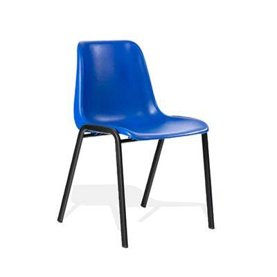 Stacking Chair Polly Blue Polypropylene Pack of 4