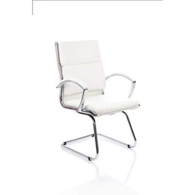 Visitor Chair Classic Cantilever White With Arms
