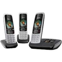 Gigaset DECT Telephone C630A Trio Black, Silver
