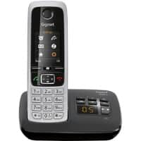 Gigaset DECT Telephone C630A Single Black, Silver