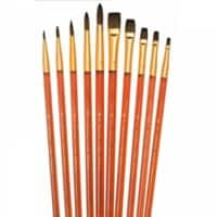 Royal & Langnickel Paint Brush Set Super Value Camel Hair Pack of 10