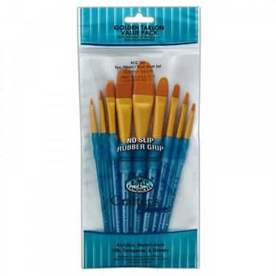 Royal & Langnickel Paint Brush Set Crafters Choice Pack of 9