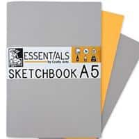 Essentials Sketch Book A5 130gsm 20 Sheets Pack of 3