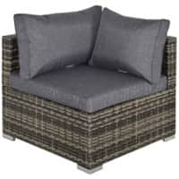 Outsunny Rattan Corner Sofa 860-137CG Deep Grey