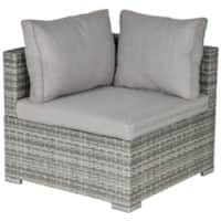 Outsunny Rattan Corner Sofa 860-137GY Grey