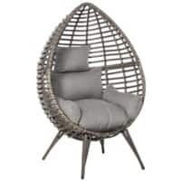 Outsunny Rattan Lazy Chair 867-047V70GY Grey