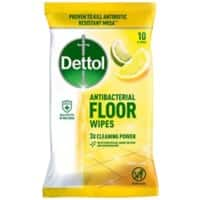 Dettol Floor Wipes Antibacterial Citrus 1 Pack of 10 Wipes