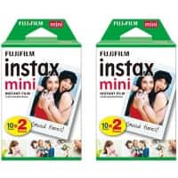 Fujifilm Instant Photo Film Glossy White Suitable for instax Mini Pack of 40
