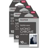 Fujifilm Instant Photo Film Monochrome Suitable for instax Mini Pack of 30