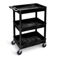 GPC Shelf Trolley Black Lifting Capacity Per Shelf: 50kg 460mm x 1000mm x 610mm