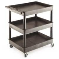 GPC Shelf Trolley Black Lifting Capacity Per Shelf: 55kg 640mm x 975mm x 920mm