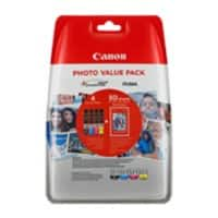 Canon CLI-551 BK/C/M/Y Ink Cartridge + Photo Paper Value Pack