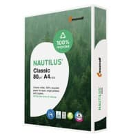 Nautilus Recycled Paper A4 White 112 CIE Quickbox of 2500 Sheets