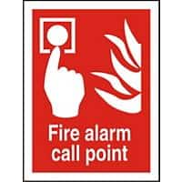 Fire Alarm Call Point Sign Fire Alarm Call Point Vinyl 15 x 20 cm