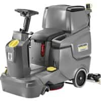 Kärcher Cordless Scrubber Dryer Professional Ride-On/Step-On BD 50/70 R Classic Grey Fresh Water Capacity 70L & Dirt Water Capacity 75L