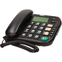 Maxcom Corded Telephone with LCD Display and Direct Photo Memory Buttons KXT480BB Black