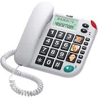 maxcom Fixed Line Telephone with LCD Display and Direct Photo Memory Buttons KXT480BB White