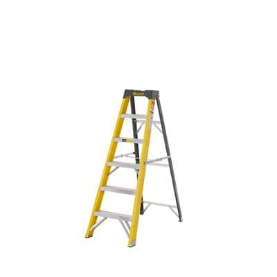 CLIMB-IT Ladder 5 Steps Yellow Capacity: 150 kg