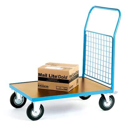 GPC Platform Truck with Single Mesh End Blue Capacity: 500L 4 Castors 800mm x 1050mm x 1200mm