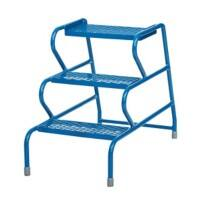 FORT Stable Step Ladder with No Handrail 3 Steps Blue Capacity: 150 kg