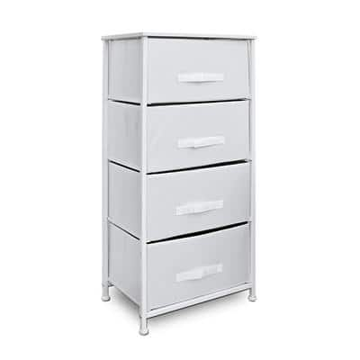 Clarisworld Storage Unit PP-9952WT with 4 Drawers White
