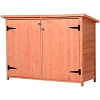 OutSunny Garden Shed Outdoors Water proof Wood 500 mm x 1280 mm x 900 mm