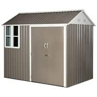 OutSunny Garden Shed Storage Outdoors Water proof Grey, White 1710 mm x 2590 mm x 2230 mm