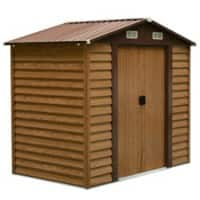 OutSunny Garden Shed Storage Outdoors Water proof Brown, Wood Grain 1956 mm x 2357 mm x 2087 mm