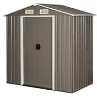 OutSunny Garden Shed Storage Outdoors Water proof Grey, White 1110 mm x 1930 mm x 1840 mm