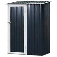 OutSunny Garden Shed Storage Outdoors Water proof Grey 890 mm x 1430 mm x 1860 mm