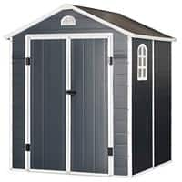 OutSunny Garden Storage Shed Outdoors Water proof Grey 1900 mm x 1920 mm x 2260 mm
