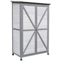 OutSunny Garden Tool Cabinet Outdoors Water proof Grey 600 mm x 1000 mm x 1600 mm