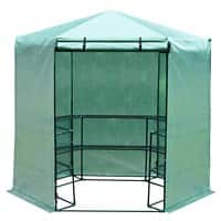 OutSunny Greenhouse Outdoors Waterproof Green 2250 mm