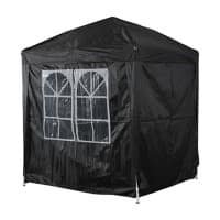 OutSunny Pop Up Gazebo Outdoors Water proof Black 2000 mm x 2000 mm x 2450 mm