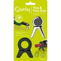 Quirky Kitchen Utensil Set Black, Silver Pack of 2
