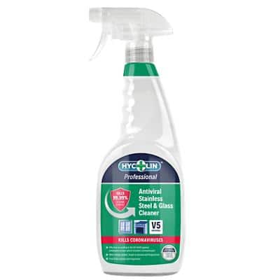 HYCOLIN Professional Stainless Steel & Glass Cleaner Antiviral V5 750ml
