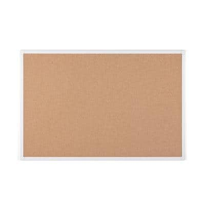 Bi-Office Maya Antimicrobial Cork Board with Aluminium Frame 900 x 600 mm