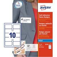 Avery Self Adhesive Name Badge 80 x 50 mm 15 sheets of 10 Badges
