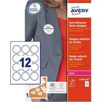Avery Self Adhesive Name Badge 51mm dia. Round 20 sheets of 12 Badges