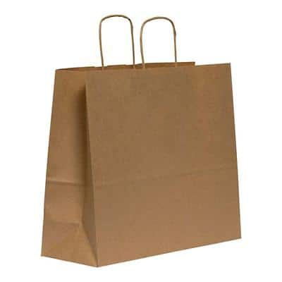 Purely Packaging Vita Twist Handle Paper Bag 290 (W) x 340 (H) x 120 (D) mm BrownPack of 150