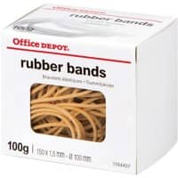 Office Depot Rubber Bands Ø 100 mm 150 mm 100 g