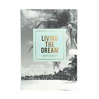 GO STATIONERY Diary Classic Living The Dream 1 Week on 2 pages 2021 A5