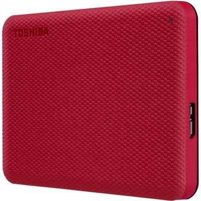 Toshiba 1 TB External Portable Hard Drive Canvio Advance Red