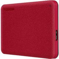 Toshiba 4 TB External Portable Hard Drive Canvio Advance Red