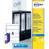 Avery Filing Labels J8171-10, 60 x 200 mm 10 Sheets of 4 Labels
